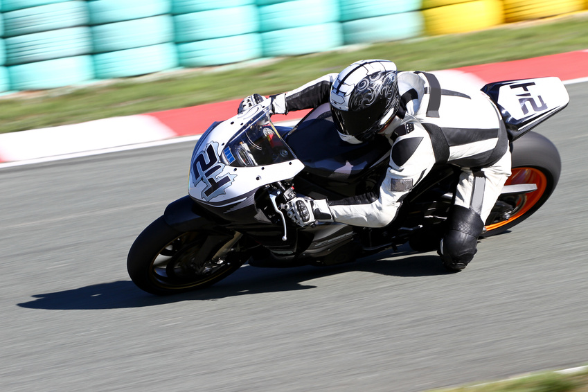 motorcycle at race track